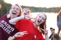 Cru Fall Retreat Girls Having Fun