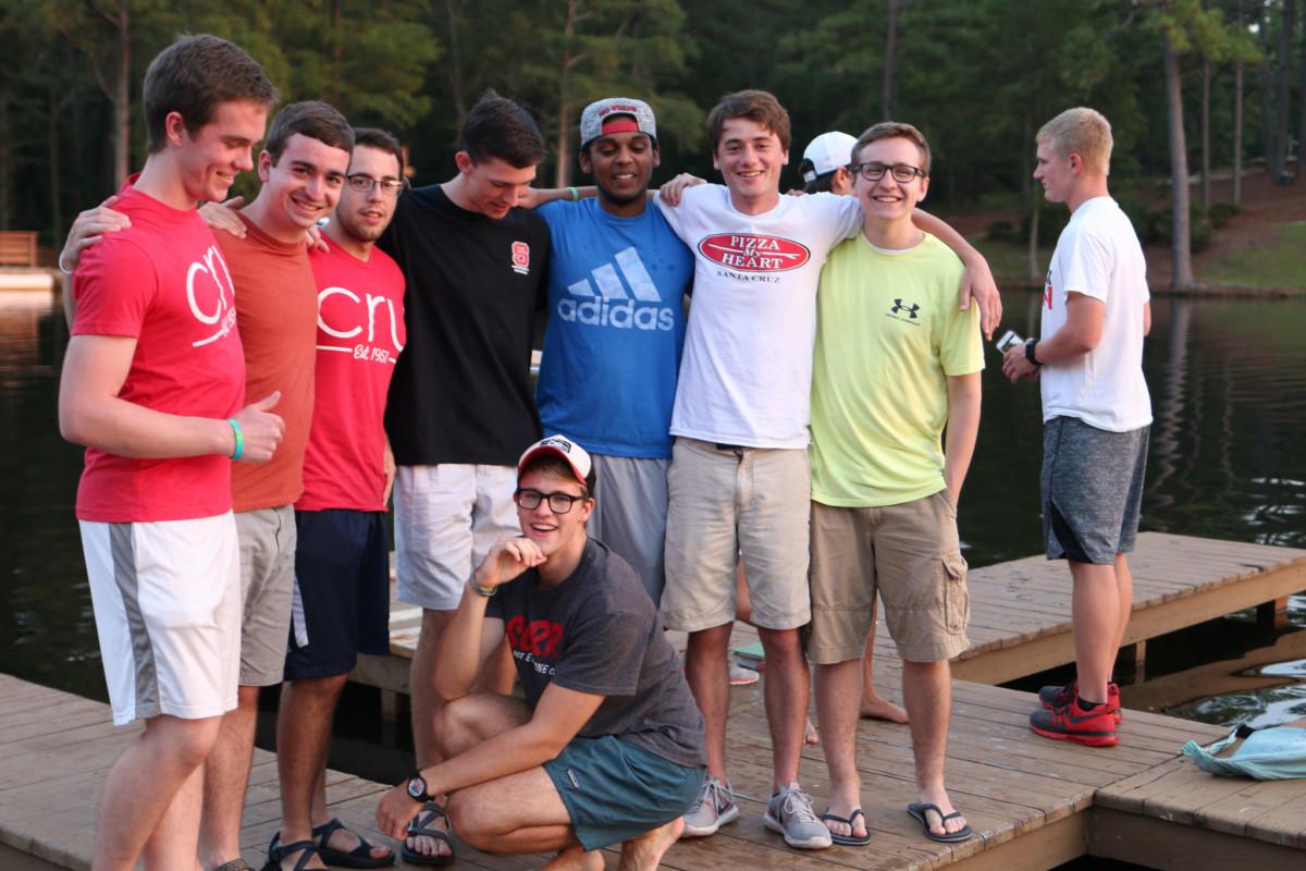 Fall Retreat Guys on the Pier, CruNCSU, NC State